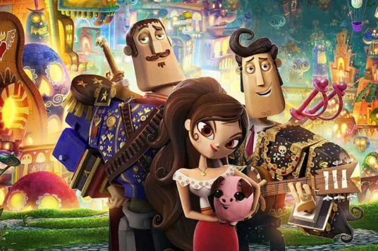 The Book Of Life Poster with Maria, Manolo and Joaquin