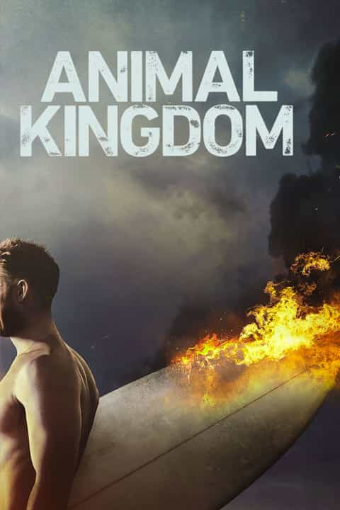 Animal Kingdom Poster of Man Carrying Flaming Surfboard
