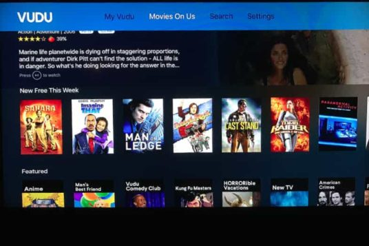 VUDU App on Apple TV