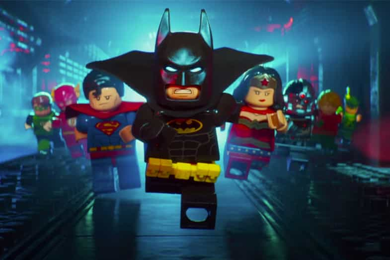 The Lego Batman Movie Poster of characters running